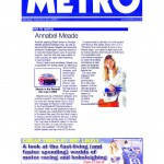 Annabel Meade in the Metro Newspaper